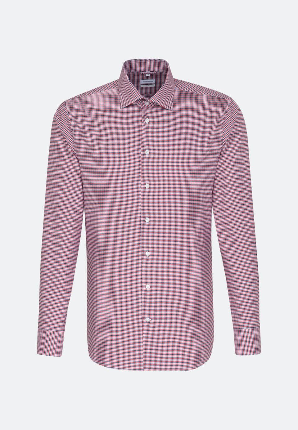 Bügelfreies Oxford Business Hemd in Slim mit Kentkragen in Rot |  Seidensticker Onlineshop
