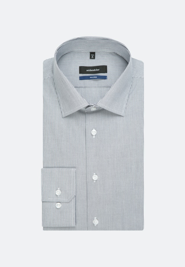 Non-iron Popeline Business Shirt in Shaped with Kent-Collar and extra short sleeve in Dark blue |  Seidensticker Onlineshop