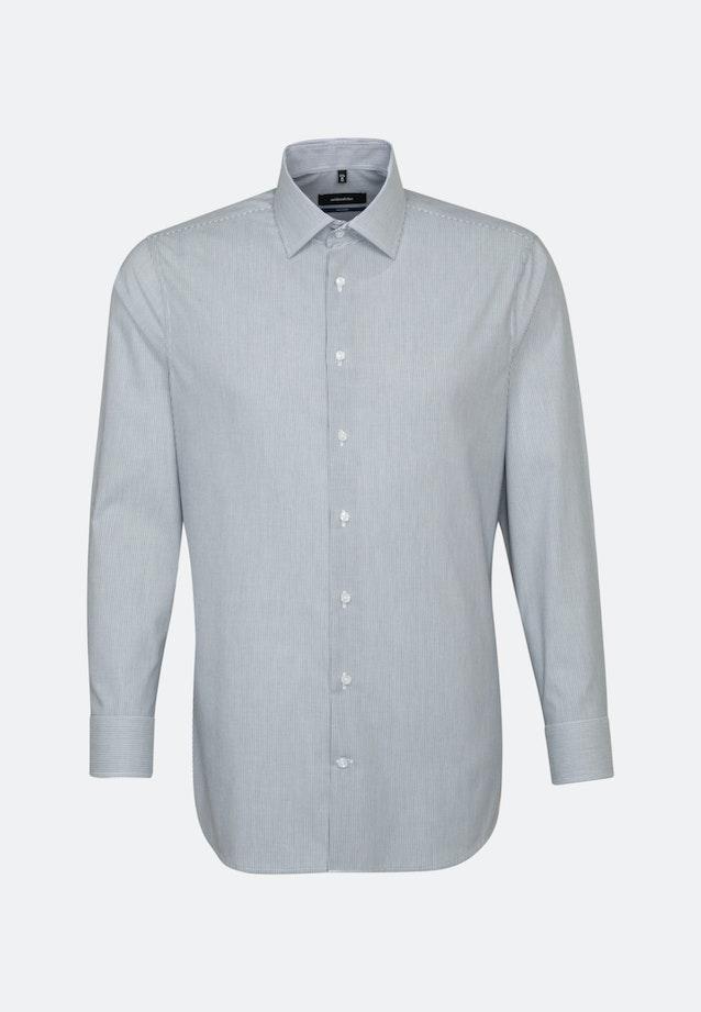 Bügelfreies Popeline Business Hemd in Shaped mit Kentkragen und extra kurzem Arm in Dunkelblau |  Seidensticker Onlineshop