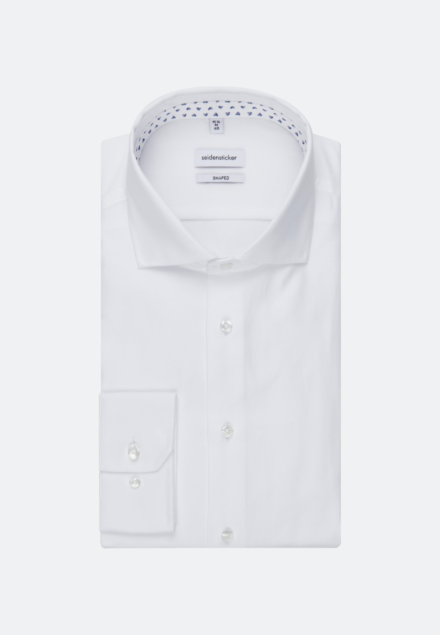Easy-iron Structure Business Shirt in Shaped with Kent-Collar in White |  Seidensticker Onlineshop