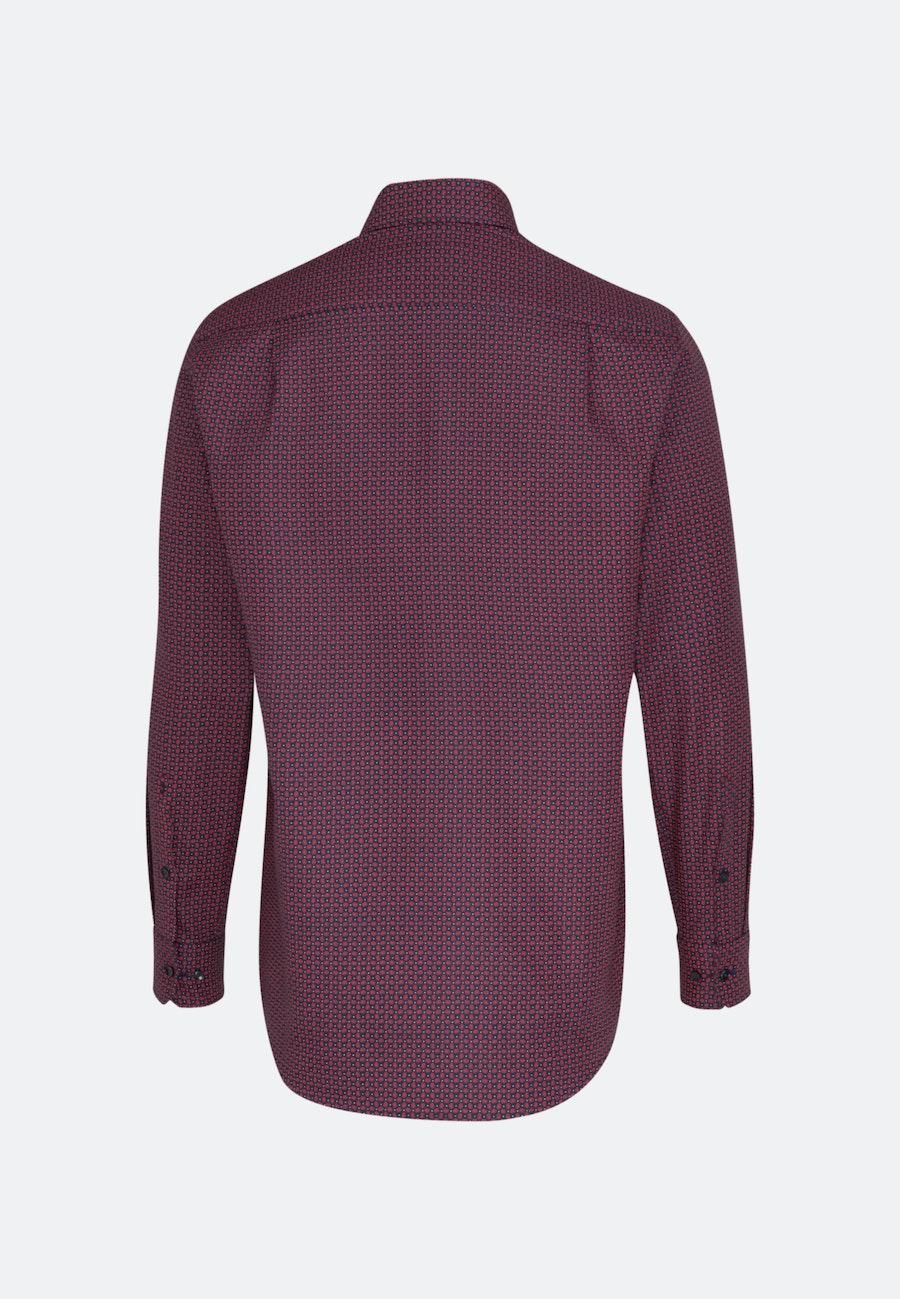 Easy-iron Structure Business Shirt in Regular with Kent-Collar in Red |  Seidensticker Onlineshop