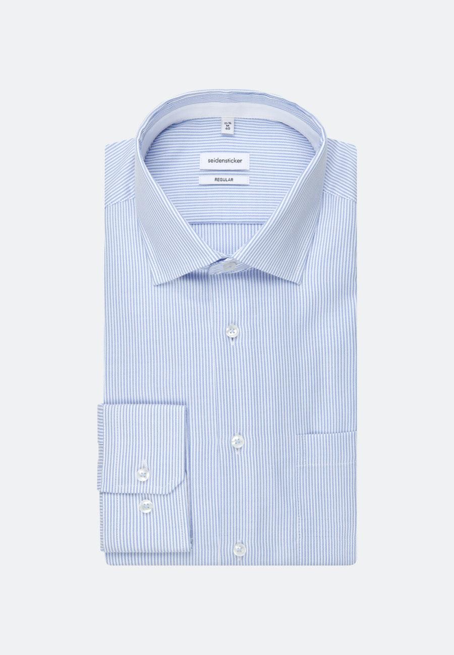 Non-iron Oxford Business Shirt in Regular with Kent-Collar in Light blue |  Seidensticker Onlineshop