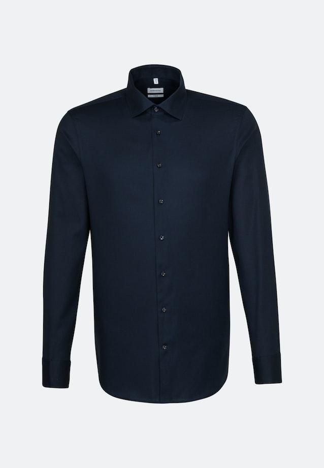 Non-iron Structure Business Shirt in X-Slim with Kent-Collar in Dark blue    Seidensticker Onlineshop