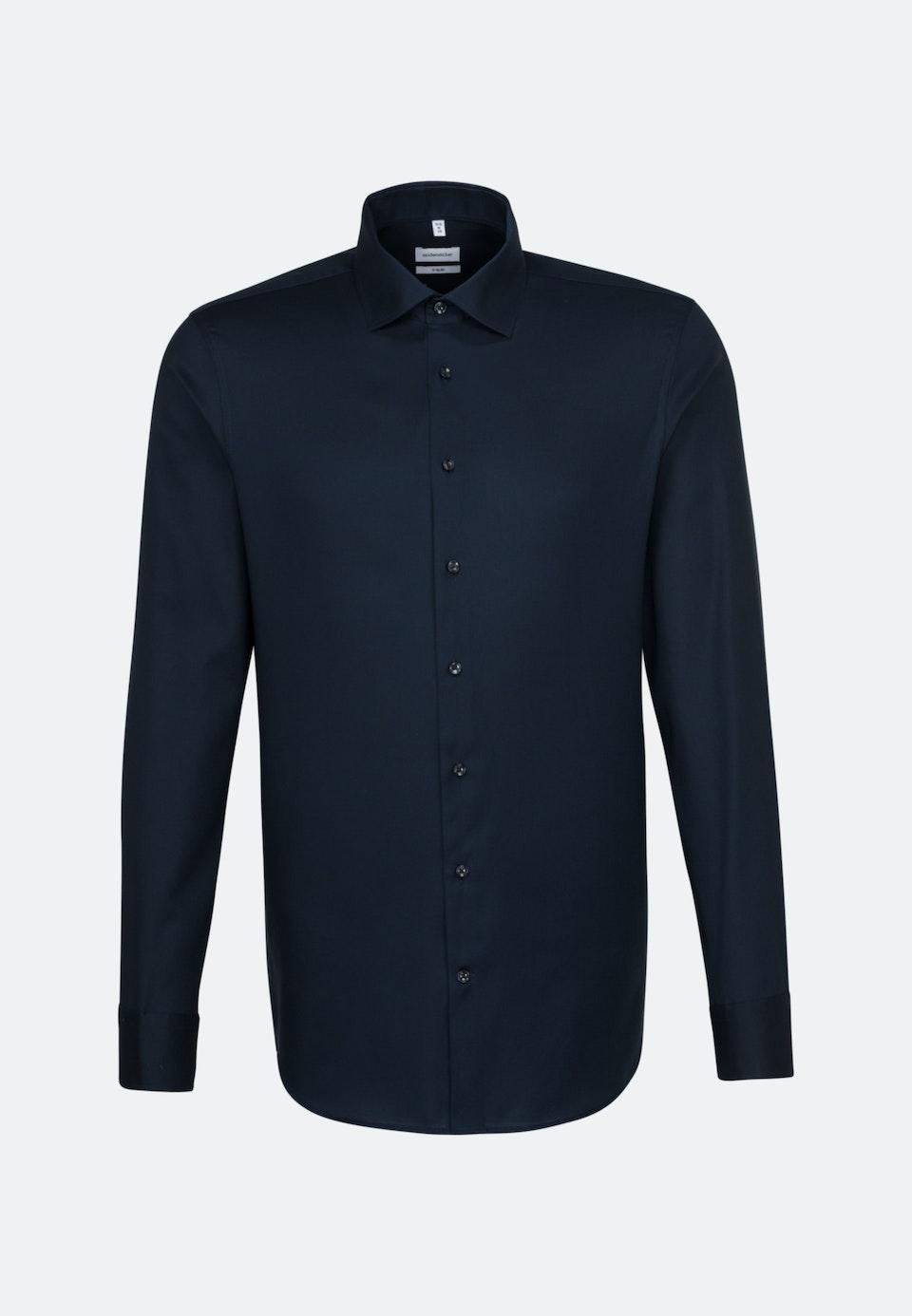 Non-iron Struktur Business Shirt in X-Slim with Kent-Collar in Dark blue |  Seidensticker Onlineshop