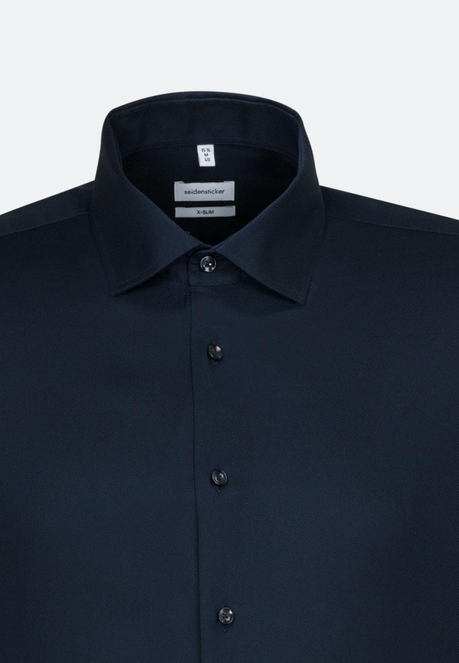 Non-iron Struktur Business Shirt in X-Slim with Kent-Collar in Dark blue    Seidensticker Onlineshop