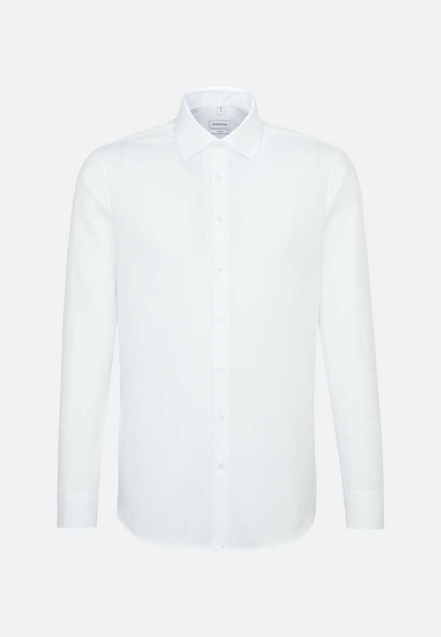 Non-iron Structure Business Shirt in X-Slim with Kent-Collar in White |  Seidensticker Onlineshop
