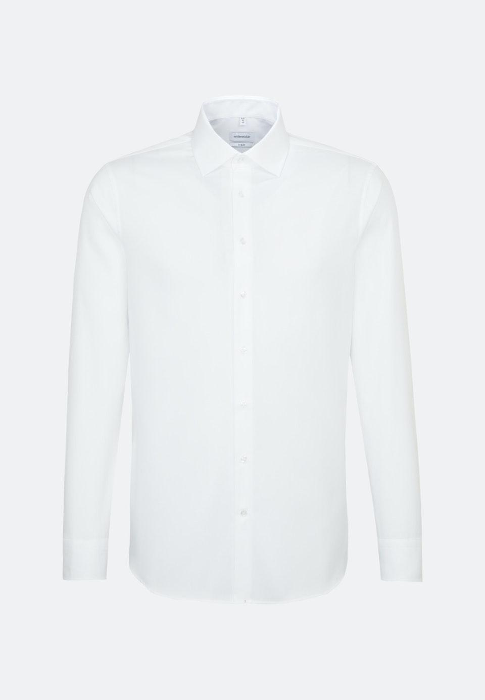 Bügelfreies Struktur Business Hemd in X-Slim mit Kentkragen in Weiß    Seidensticker Onlineshop