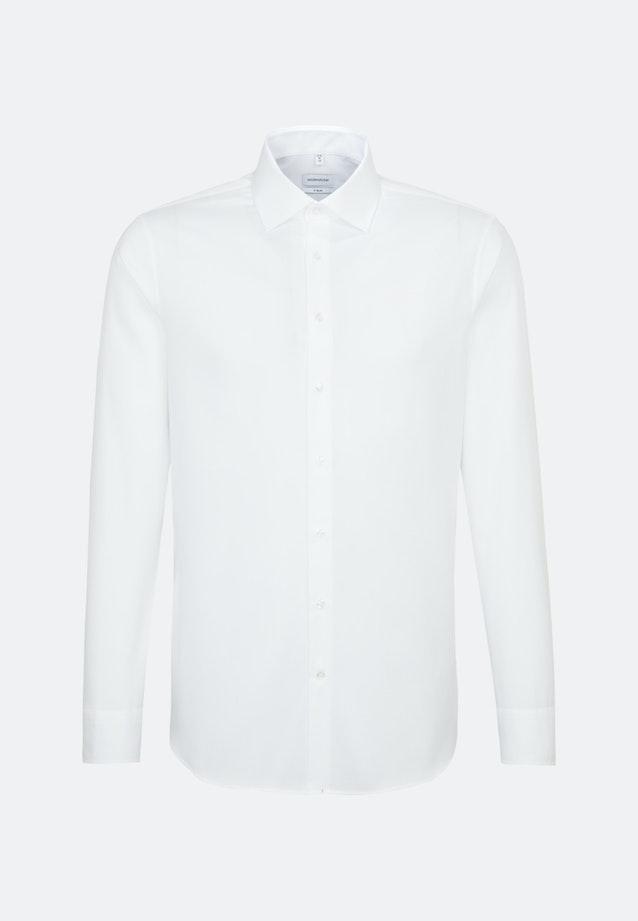 Non-iron Structure Business Shirt in X-Slim with Kent-Collar in White    Seidensticker Onlineshop