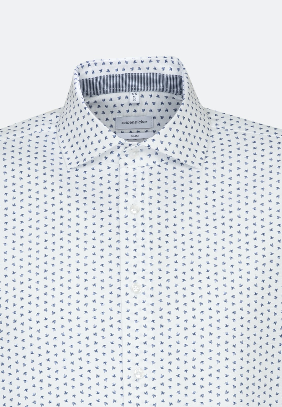 Easy-iron Struktur Business Shirt in Slim with Kent-Collar in Medium blue    Seidensticker Onlineshop