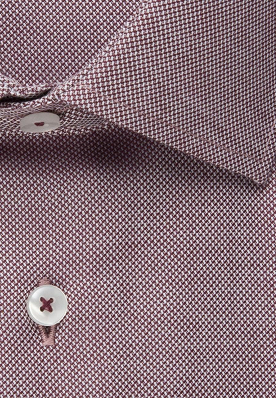 Bügelfreies Struktur Business Hemd in Slim mit Kentkragen in Rot    Seidensticker Onlineshop