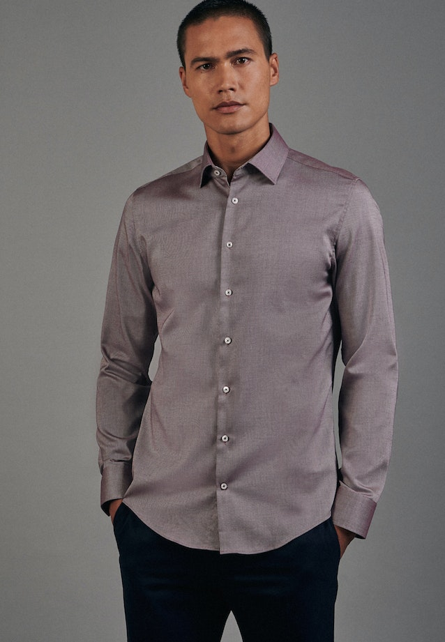 Non-iron Struktur Business Shirt in Slim with Kent-Collar in Rot |  Seidensticker Onlineshop