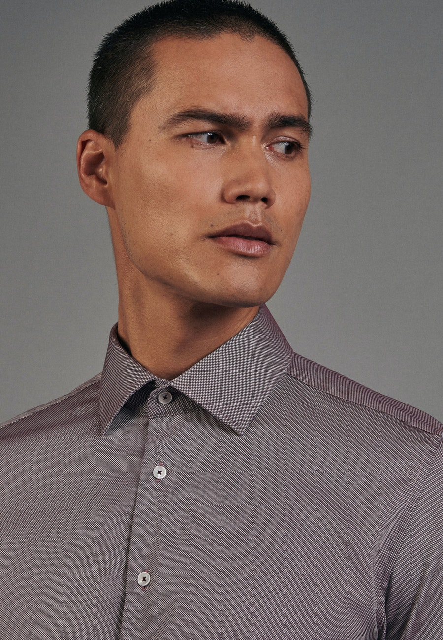 Non-iron Structure Business Shirt in Slim with Kent-Collar in Rot |  Seidensticker Onlineshop