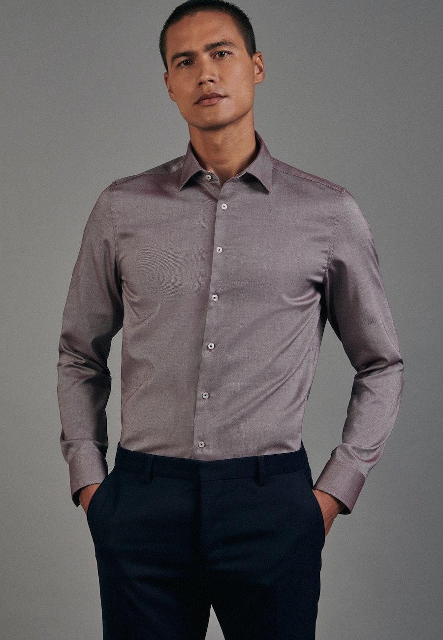 Non-iron Struktur Business Shirt in Slim with Kent-Collar in Rot |  Seidensticker Onlineshop