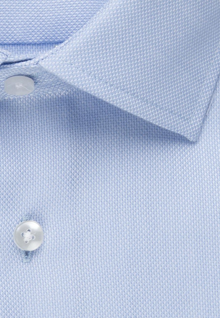 Non-iron Structure Business Shirt in Slim with Kent-Collar in Light blue |  Seidensticker Onlineshop