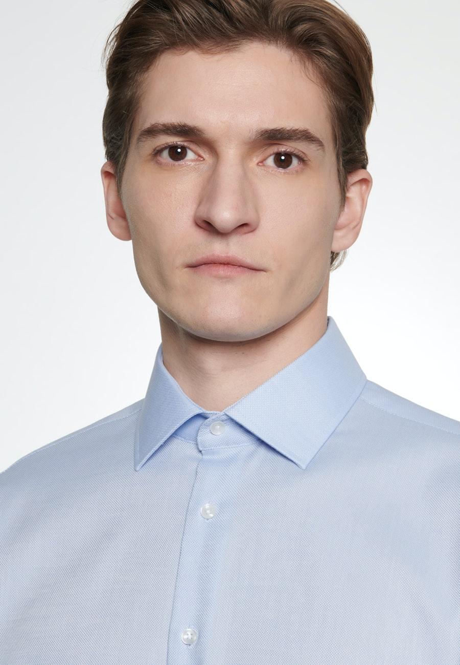 Bügelfreies Struktur Business Hemd in Slim mit Kentkragen in Hellblau |  Seidensticker Onlineshop
