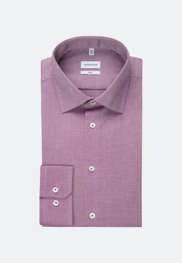 Non-iron Struktur Business Shirt in Slim with Kent-Collar in Rosa/Pink |  Seidensticker Onlineshop