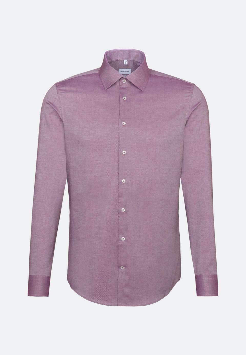 Bügelfreies Struktur Business Hemd in Slim mit Kentkragen in Rosa/Pink |  Seidensticker Onlineshop