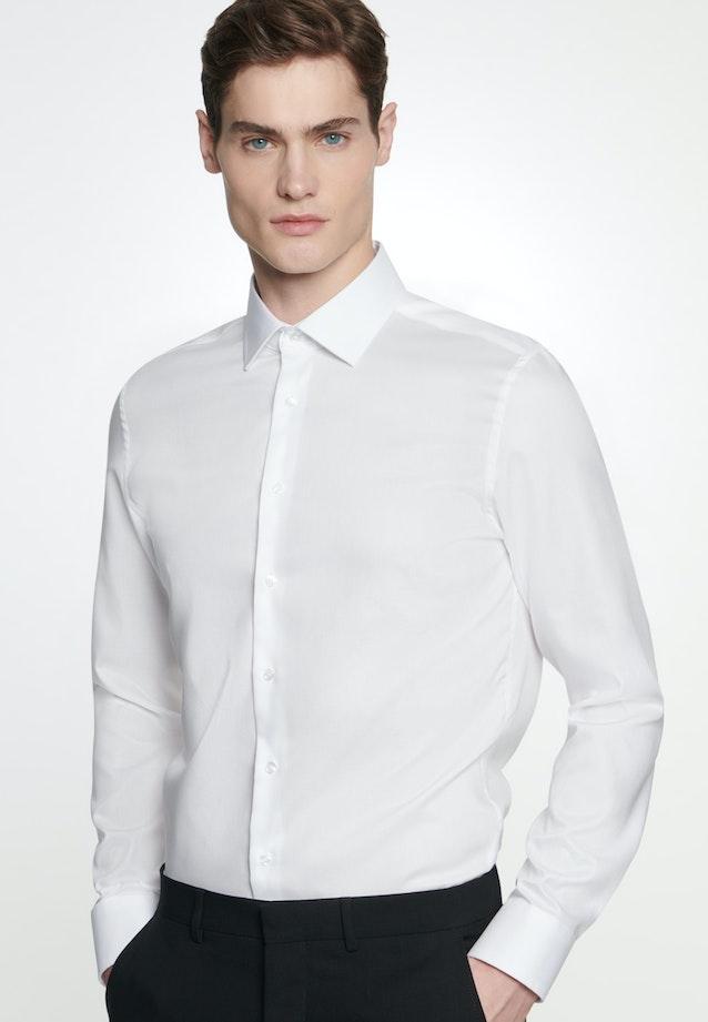 Bügelfreies Struktur Business Hemd in Slim mit Kentkragen in Weiß    Seidensticker Onlineshop