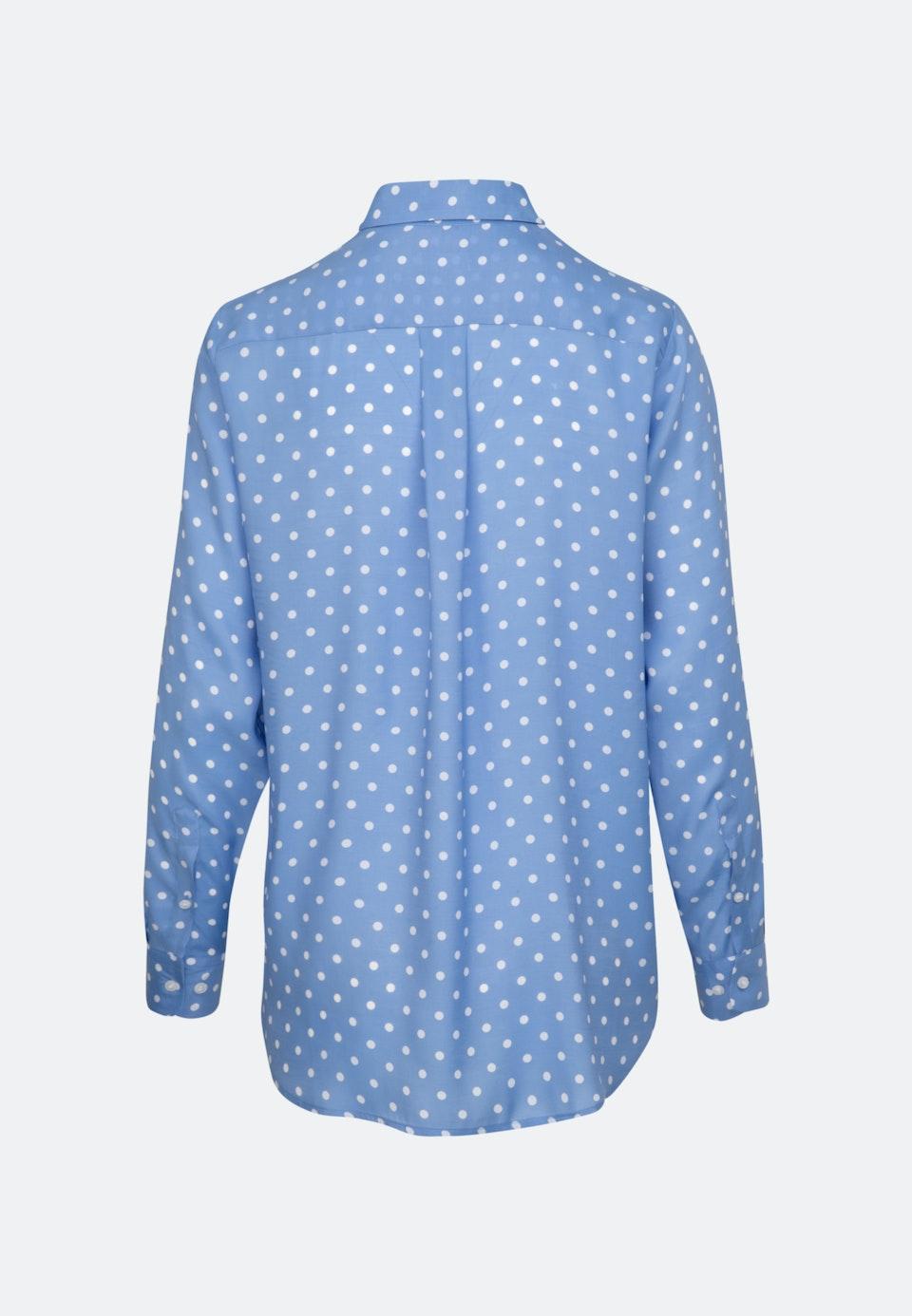 Voile Shirt Blouse made of 100% Viscose in Medium blue |  Seidensticker Onlineshop