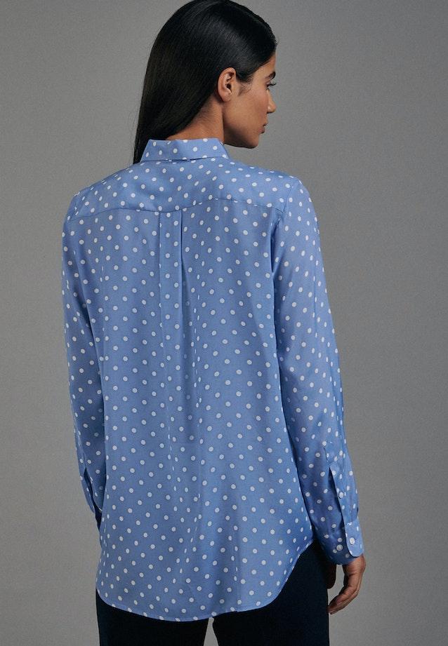 Voile Hemdbluse aus 100% Viskose in Mittelblau |  Seidensticker Onlineshop