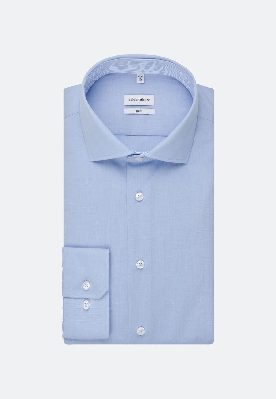 Easy-iron Popeline Business Shirt in Slim with Kent-Collar in Light blue    Seidensticker Onlineshop