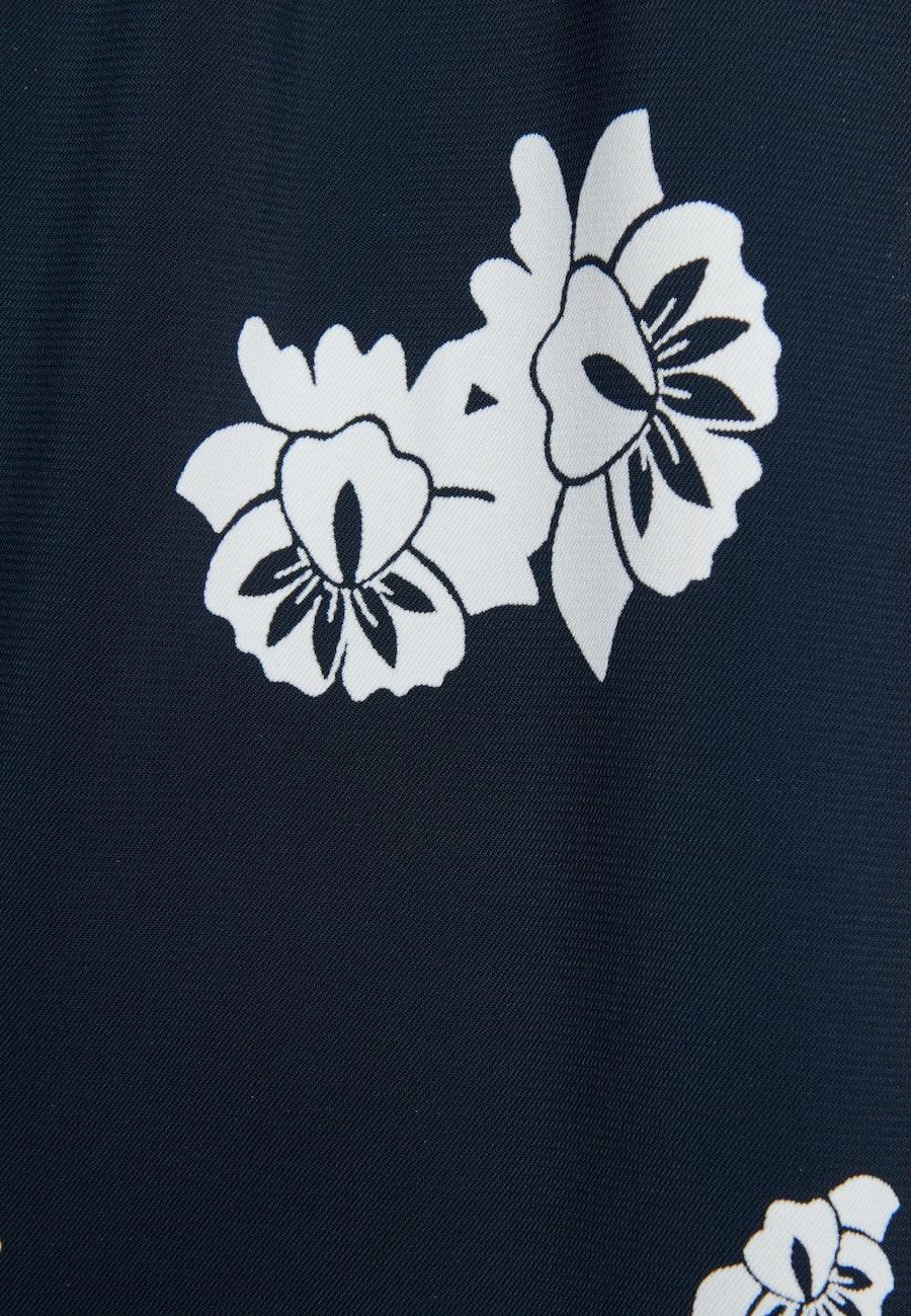 Short sleeve Krepp Shirt Blouse made of viscose blend in Dark blue |  Seidensticker Onlineshop