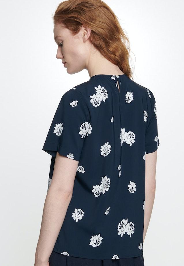 Short sleeve Crepe Shirt Blouse made of viscose blend in Dark blue |  Seidensticker Onlineshop