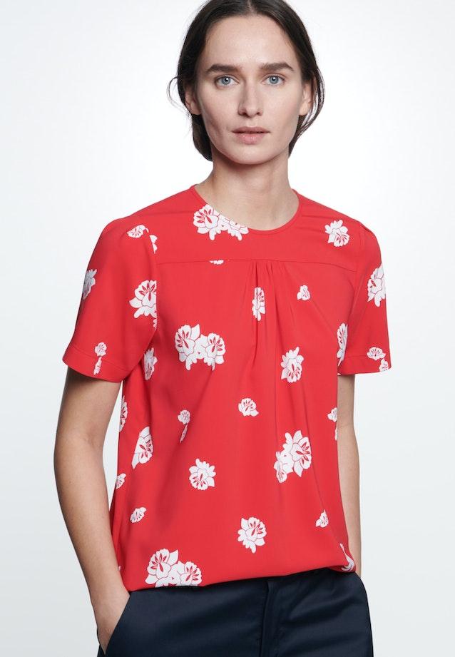 Kurzarm Krepp Shirtbluse aus Viskosemischung in Rot    Seidensticker Onlineshop