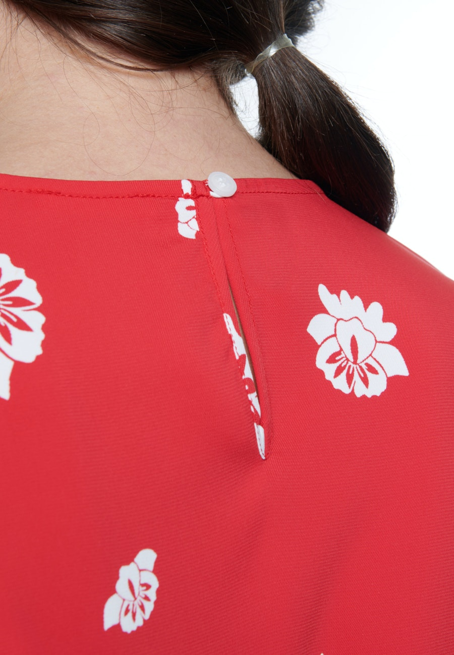 Short sleeve Crepe Shirt Blouse made of viscose blend in Red |  Seidensticker Onlineshop