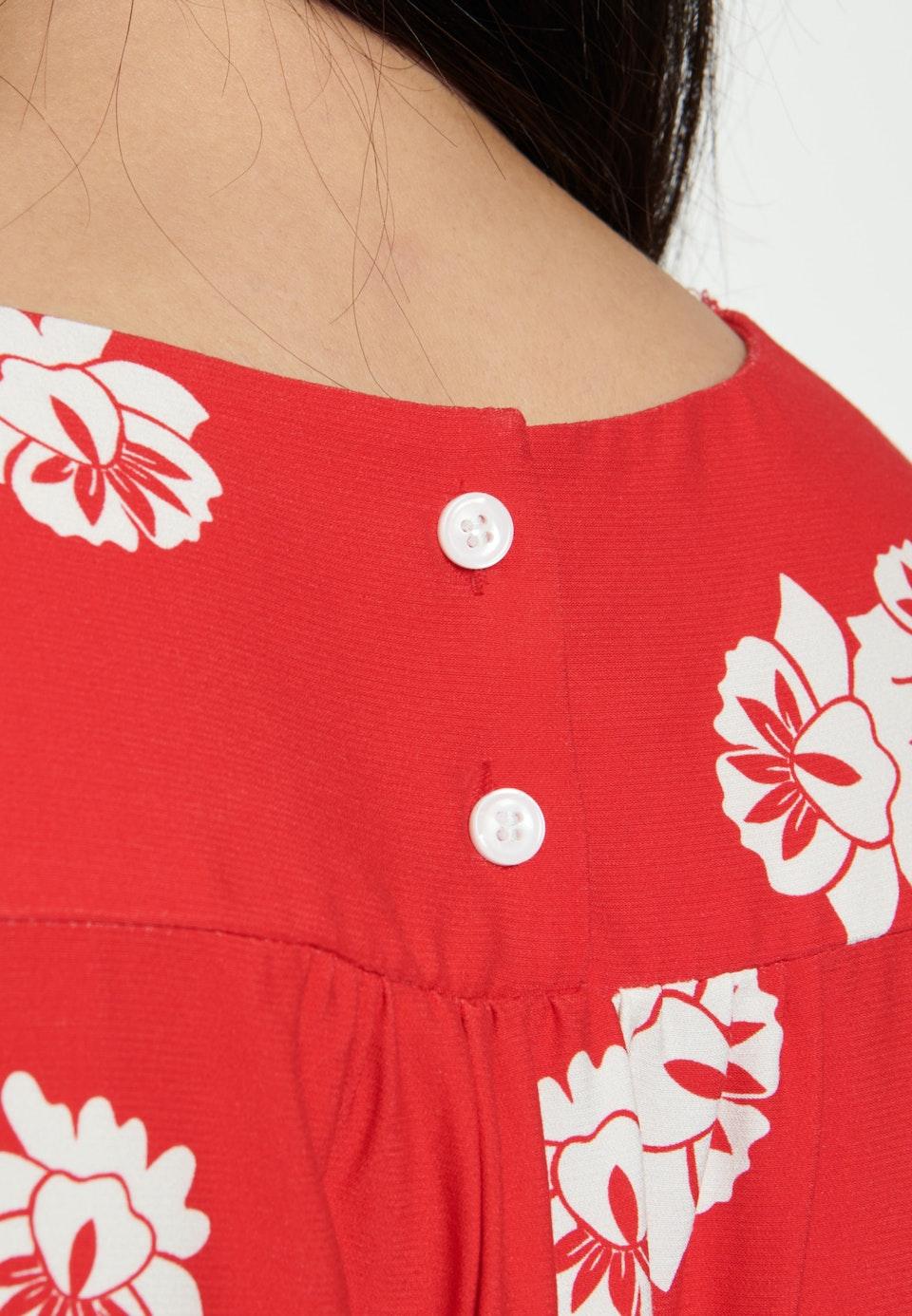 Popeline Midi Kleid aus Viskosemischung in Rot |  Seidensticker Onlineshop
