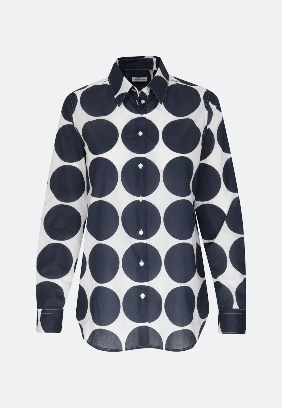 Voile Hemdbluse aus 100% Baumwolle in Dunkelblau    Seidensticker Onlineshop