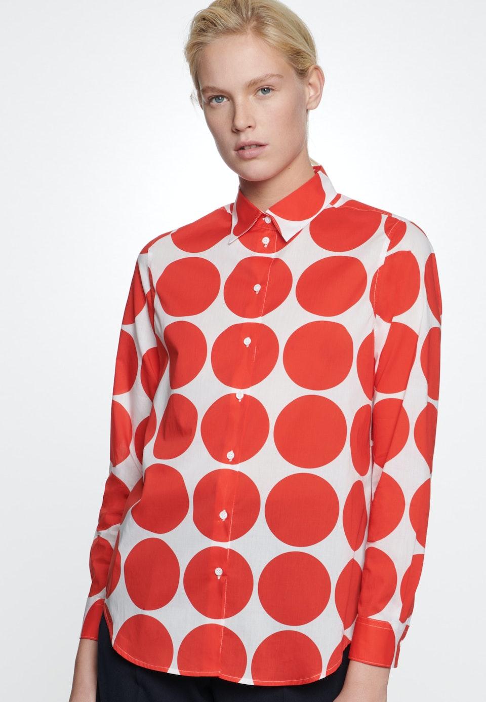 Voile Shirt Blouse made of 100% Cotton in Red    Seidensticker Onlineshop