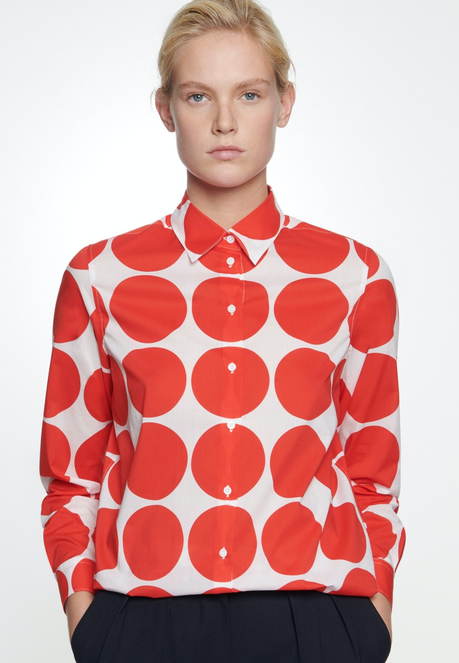 Voile Shirt Blouse made of 100% Cotton in Red |  Seidensticker Onlineshop