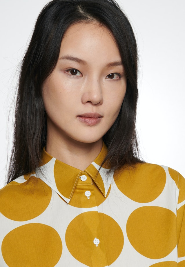 Voile Shirt Blouse made of 100% Cotton in Yellow |  Seidensticker Onlineshop