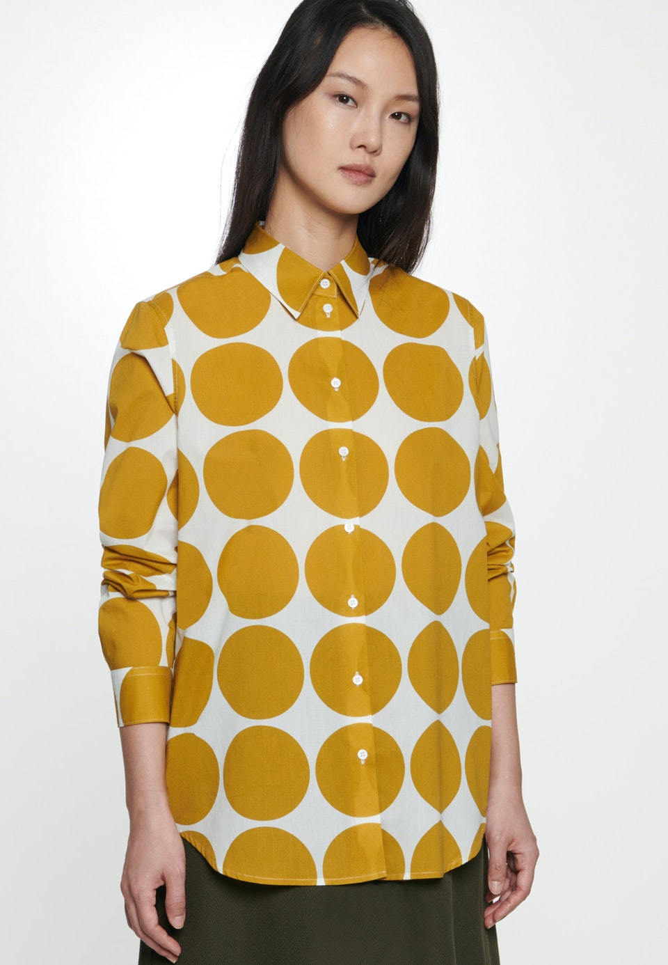 Voile Shirt Blouse made of 100% Cotton in Yellow |  Seidensticker Onlineshop