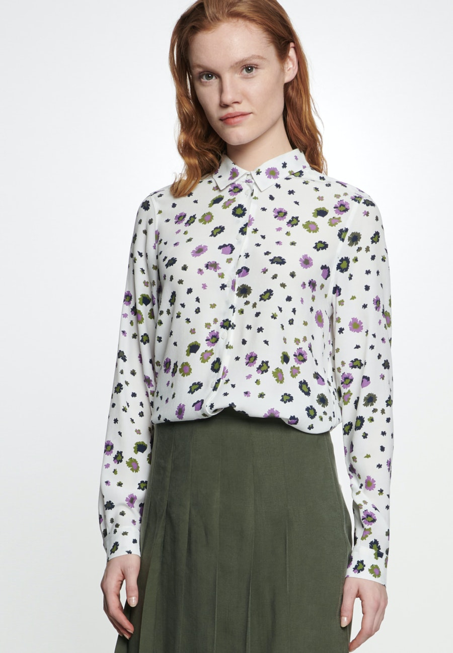 Crepe Shirt Blouse made of 100% Viscose in Ecru |  Seidensticker Onlineshop