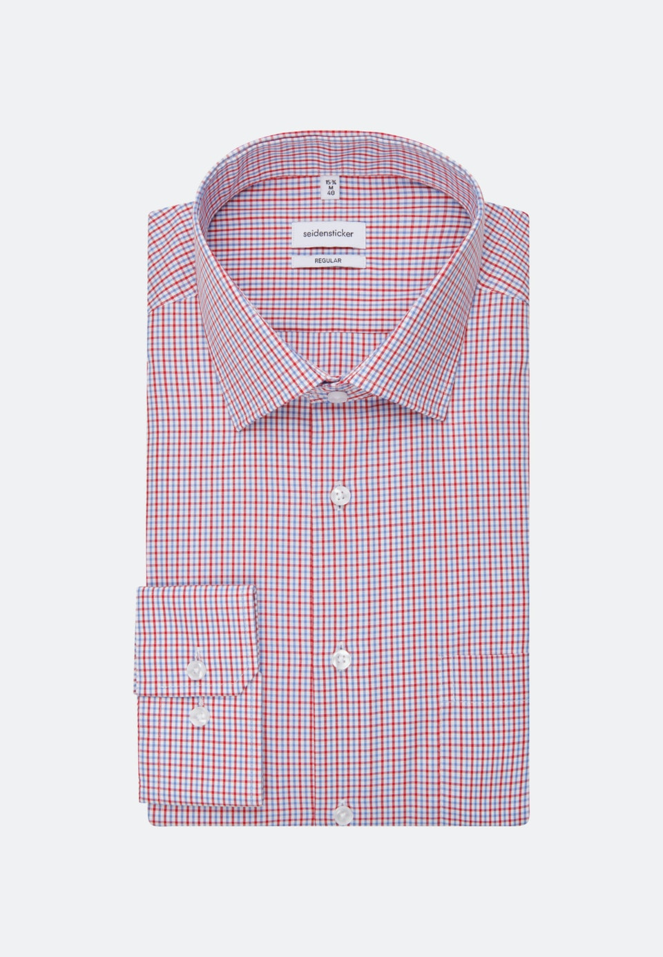 Non-iron Popeline Business Shirt in Regular with Kent-Collar in Red |  Seidensticker Onlineshop