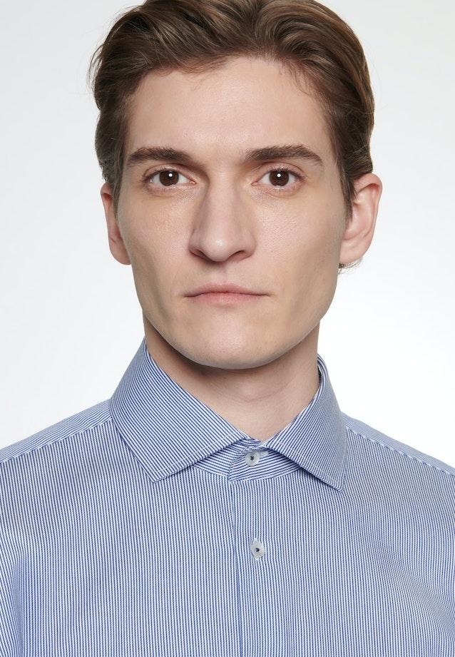 Easy-iron Twill Business Shirt in Slim with Kent-Collar in Medium blue |  Seidensticker Onlineshop