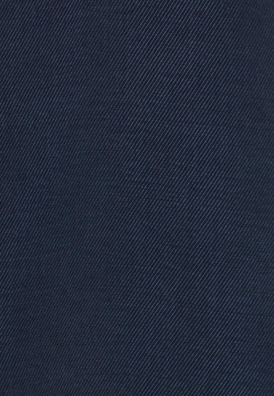 Kurzarm Twill Hemdbluse aus Tencelmischung in Dunkelblau    Seidensticker Onlineshop