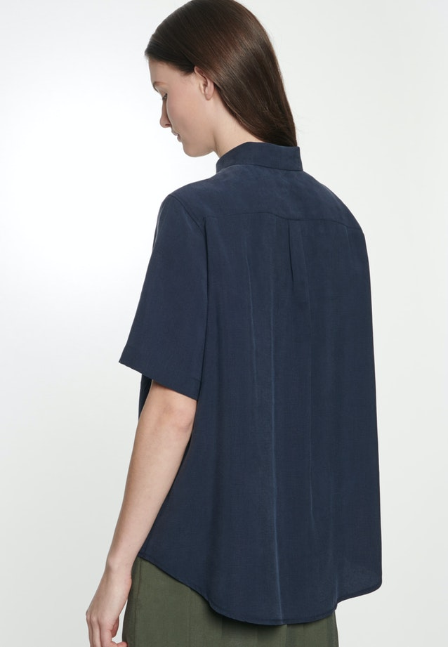 Short sleeve Twill Shirt Blouse made of tencel blend in Dark blue |  Seidensticker Onlineshop