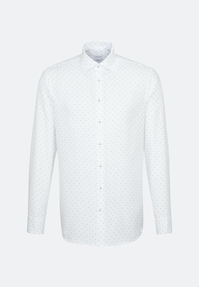 Easy-iron Struktur Business Shirt in Shaped with Kent-Collar in White    Seidensticker Onlineshop