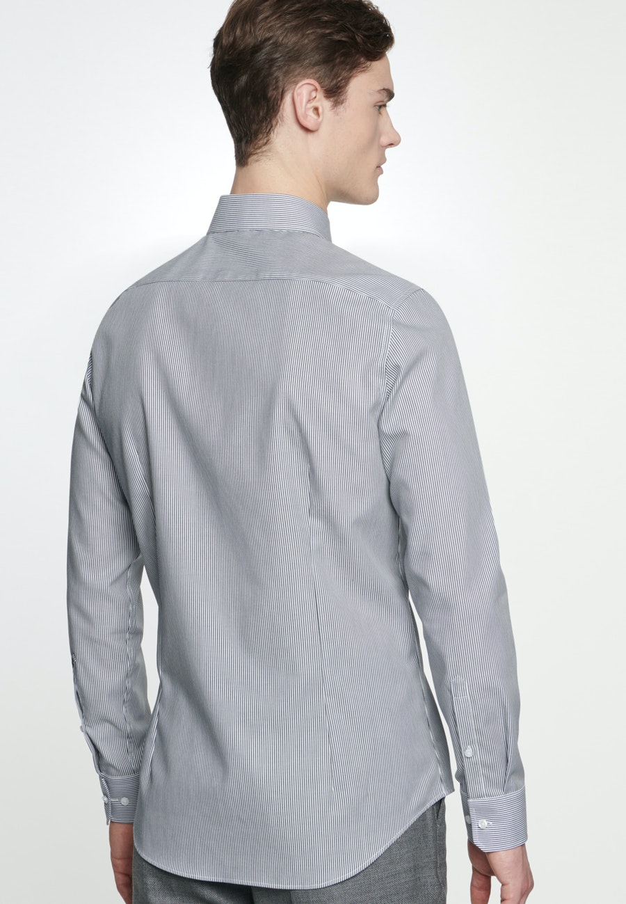 Non-iron Popeline Business Shirt in Shaped with Kent-Collar in Dark blue |  Seidensticker Onlineshop