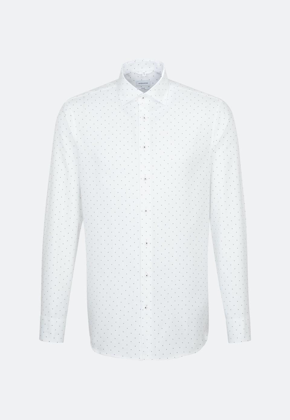 Easy-iron Structure Business Shirt in X-Slim with Kent-Collar in White |  Seidensticker Onlineshop