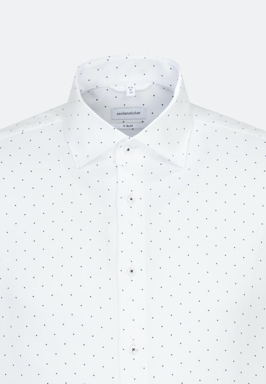 Bügelleichtes Struktur Business Hemd in X-Slim mit Kentkragen in Weiß |  Seidensticker Onlineshop