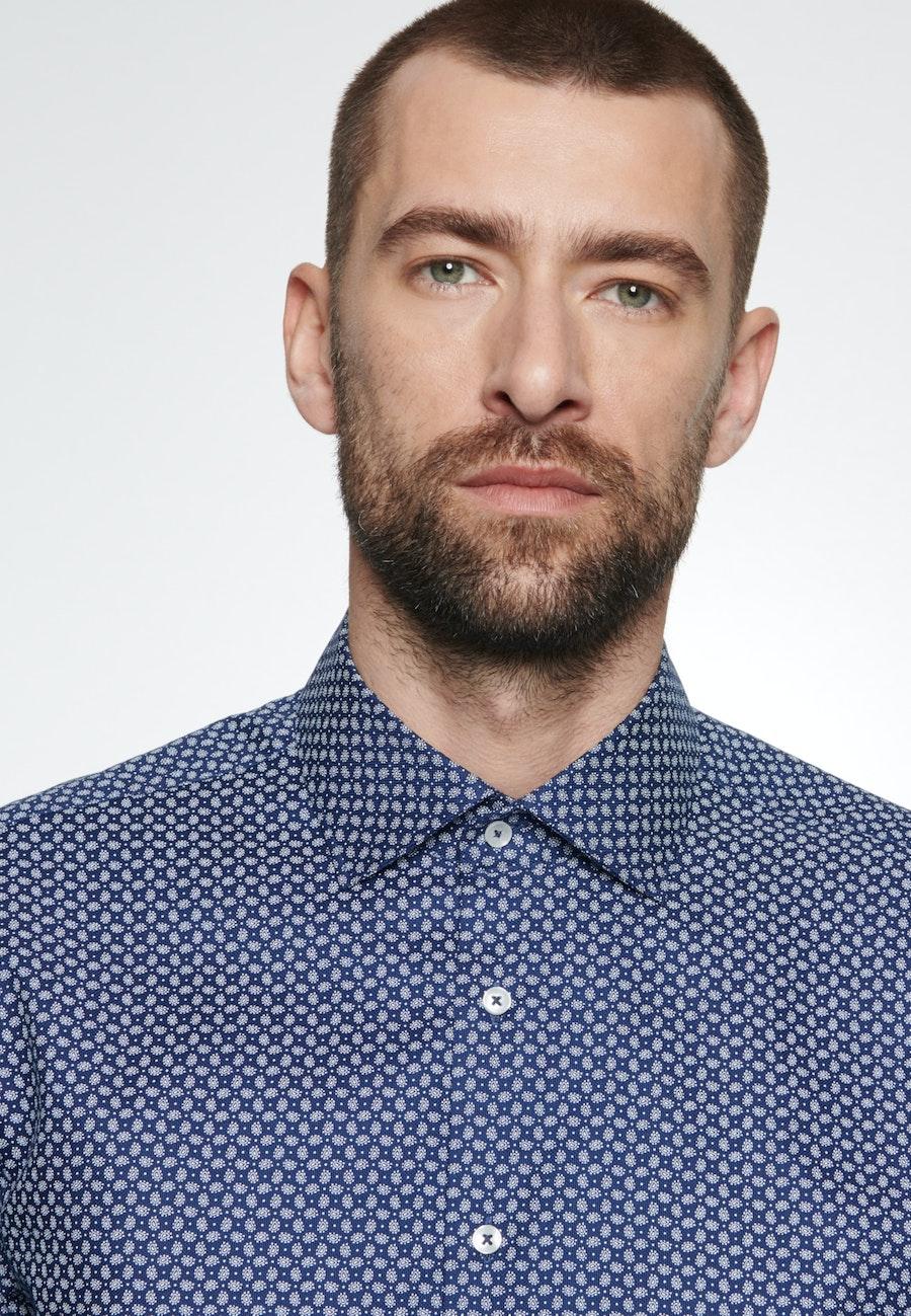Easy-iron Struktur Business Shirt in Slim with Kent-Collar in Medium blue |  Seidensticker Onlineshop