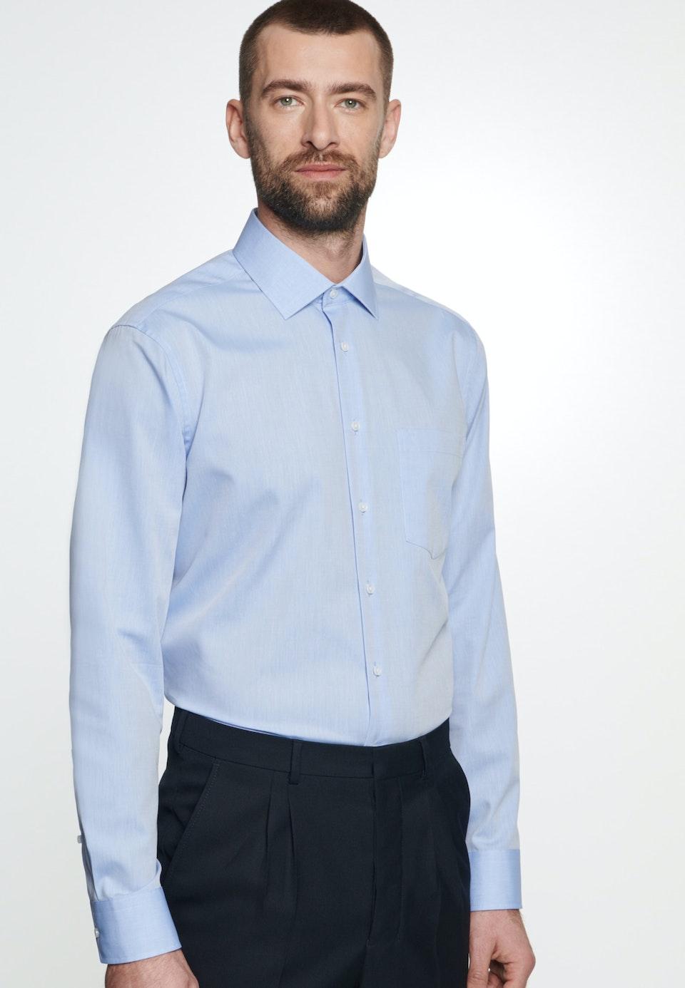 Non-iron Chambray Business Shirt in Regular with Kent-Collar in Light blue |  Seidensticker Onlineshop