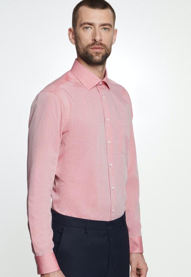 Bügelfreies Chambray Business Hemd in Regular mit Kentkragen in Rot    Seidensticker Onlineshop