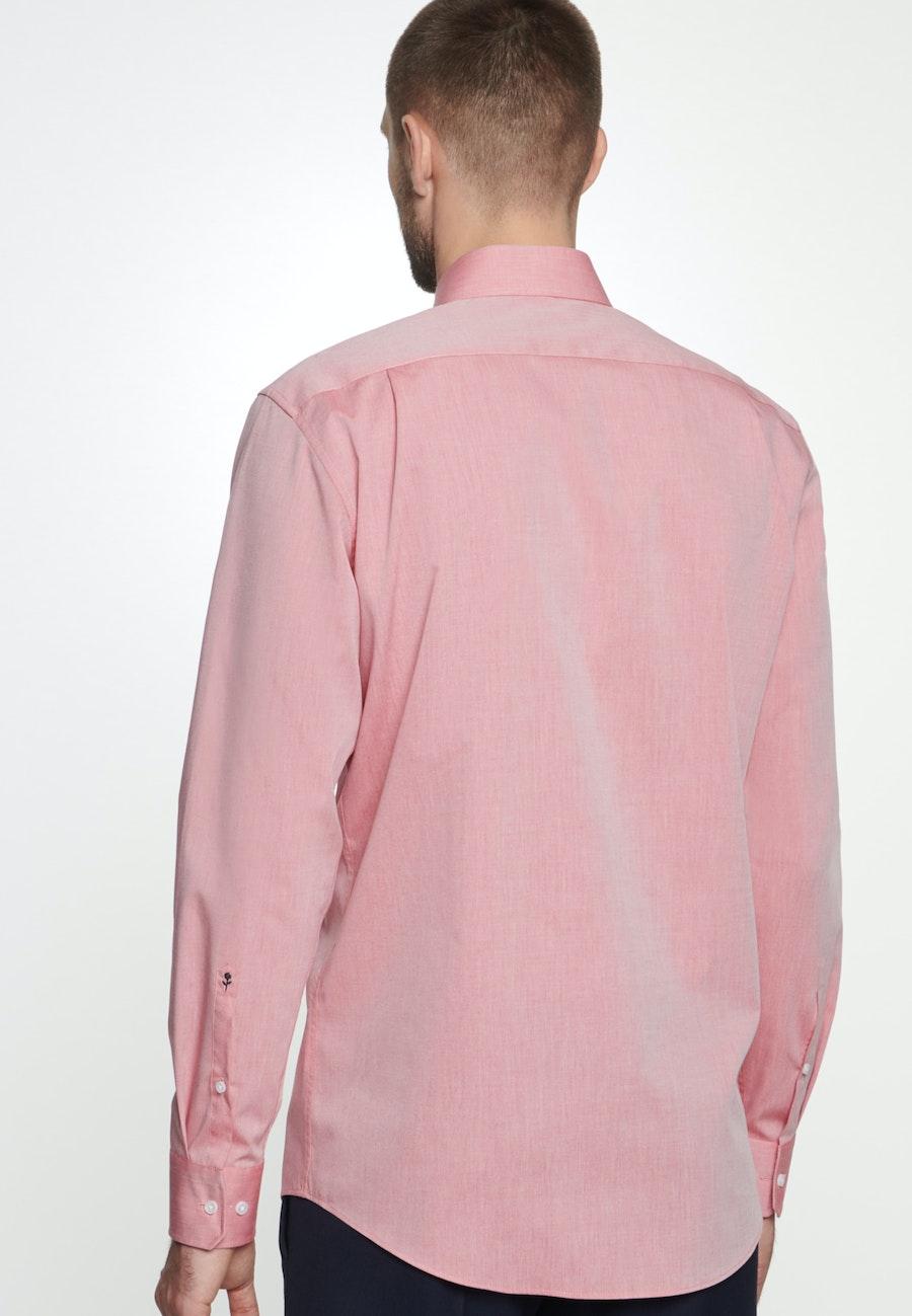 Bügelfreies Chambray Business Hemd in Regular mit Kentkragen in Rot |  Seidensticker Onlineshop