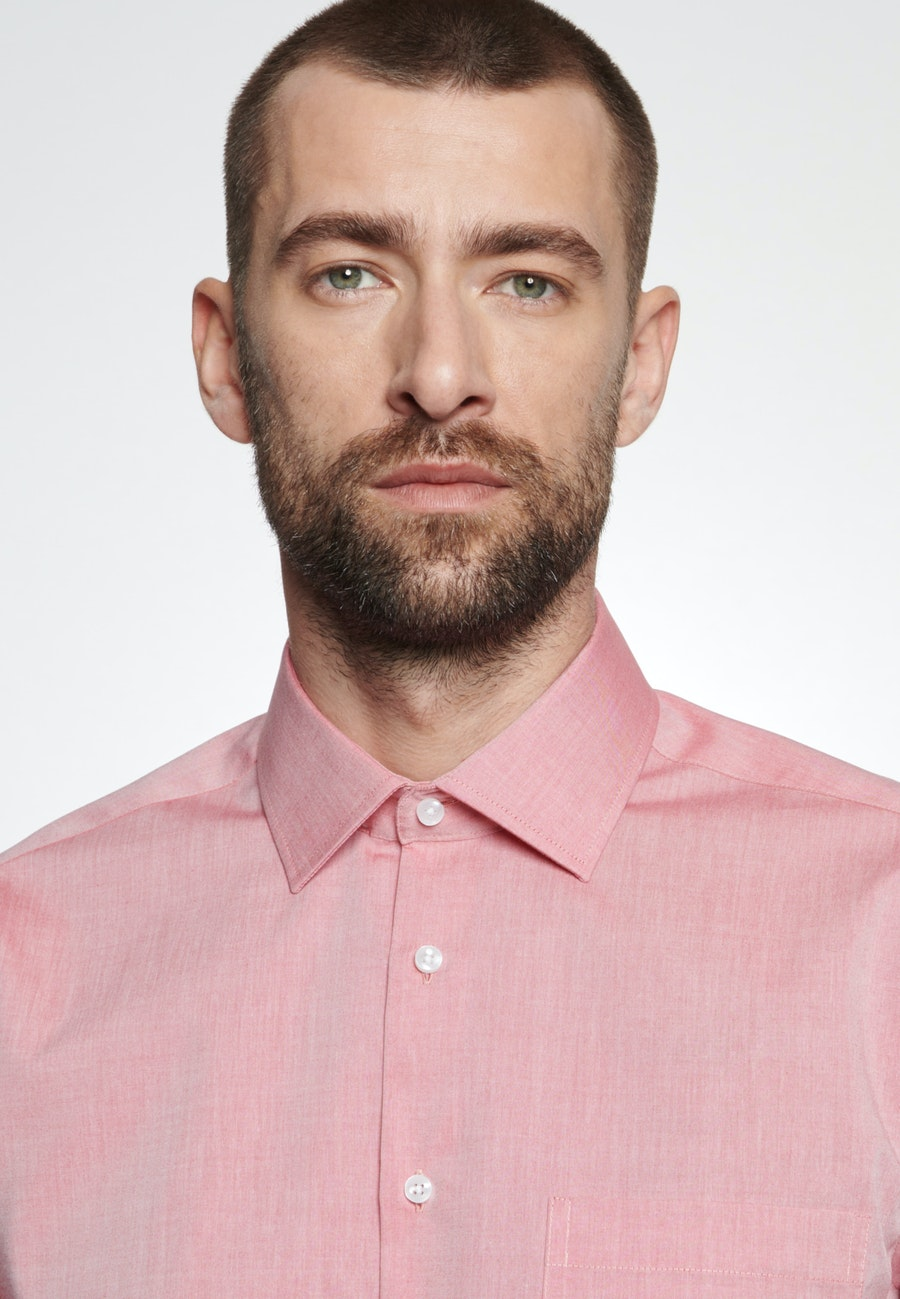 Non-iron Chambray Business Shirt in Regular with Kent-Collar in Red    Seidensticker Onlineshop