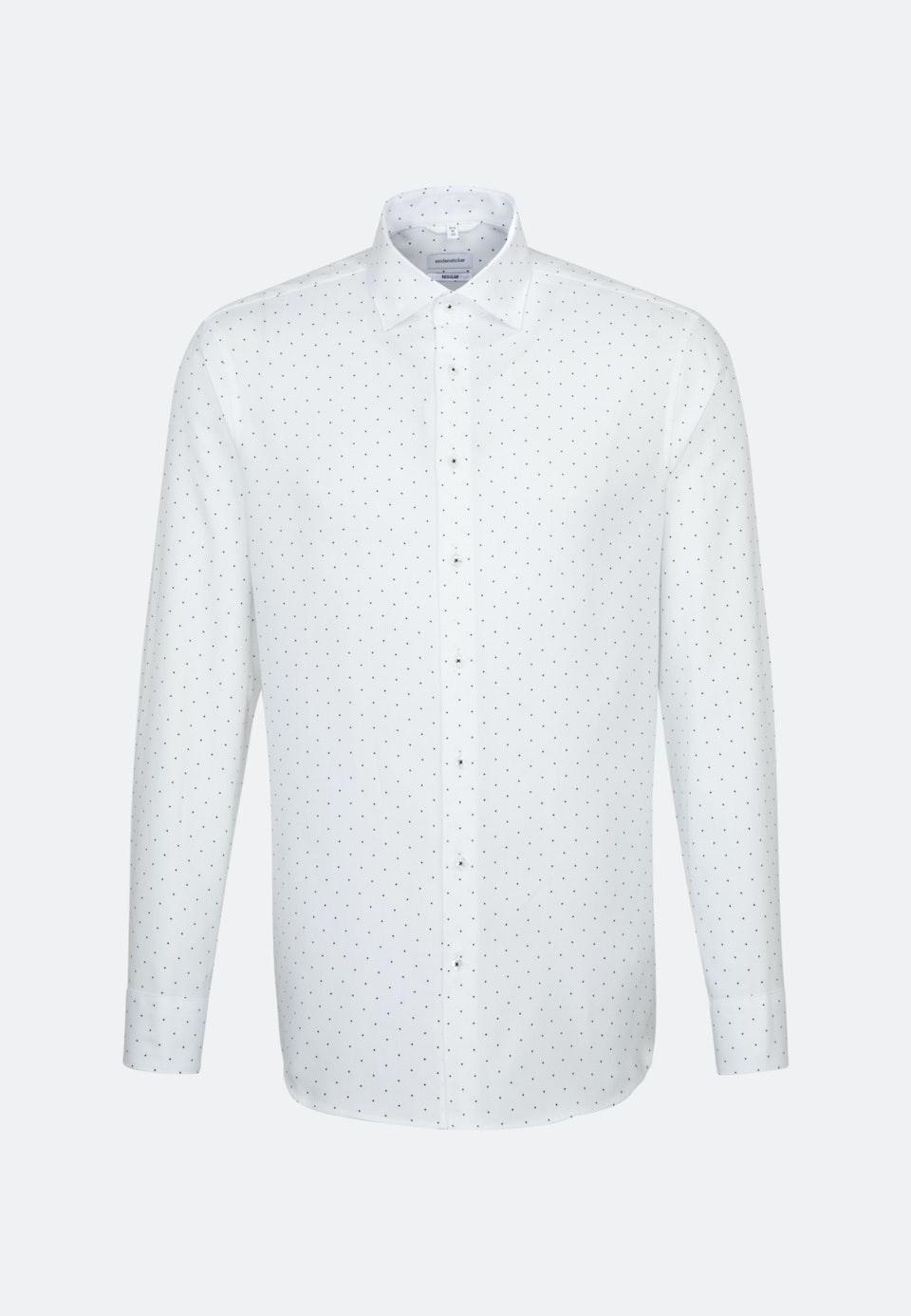Easy-iron Structure Business Shirt in Regular with Kent-Collar in White    Seidensticker Onlineshop